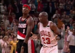 Michael Jordan shrug