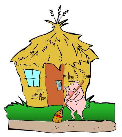 3 little pigs house