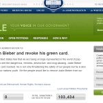 Yeah, I'll Sign That Twice: Whitehouse Petition to Deport Justin Bieber
