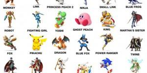 six year old super smash names