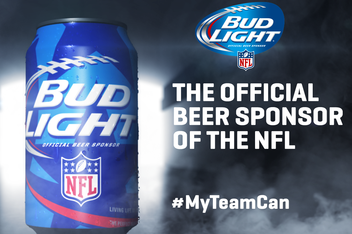 Bud light releases new nfl team specific cans modern thrill mozeypictures Gallery
