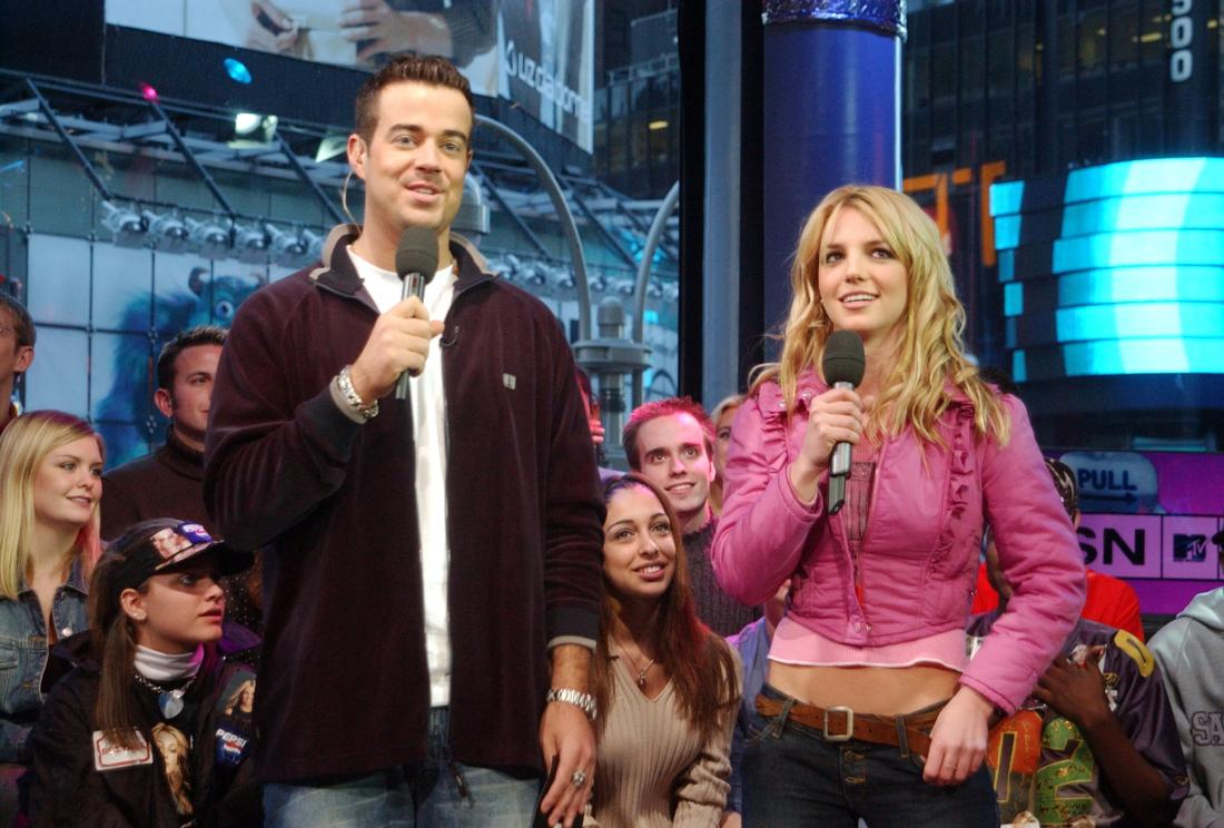 trl with britney spears