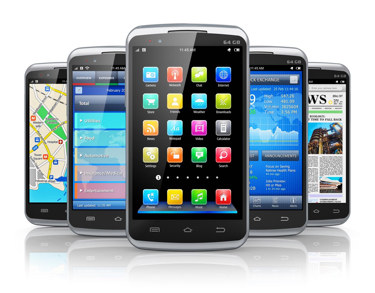 Modern Mobile smart phones
